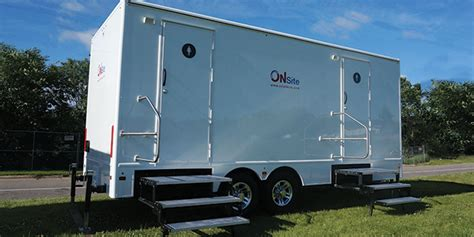 bathroom trailers luxury portable restroom trailers for rent on site co