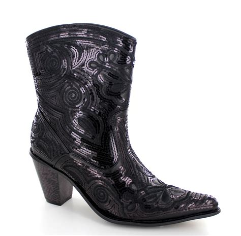 bling boots helens bling cowboy boot lb0290 11 in black