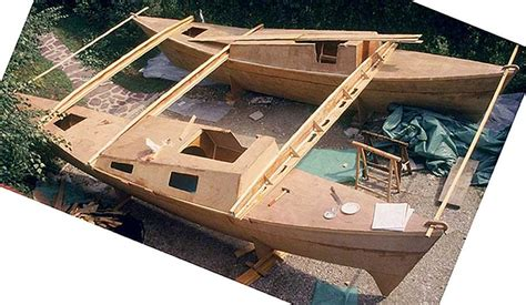 diy boat kits pin catamaran diy boat plans small uk how to build a