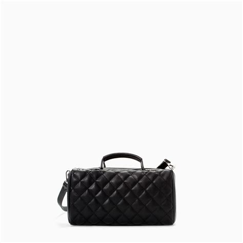 Zara Mini Quilted Messenger Bag by Zara Quilted Mini Bowling Bag In Black Lyst
