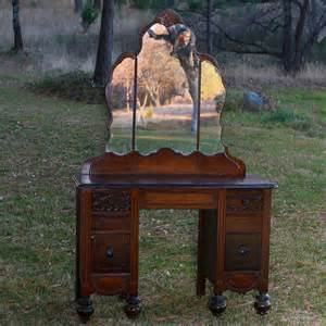 Vintage Vanity Furniture Victoria Wood Vanity With Mirror Forever Vintage Rentals