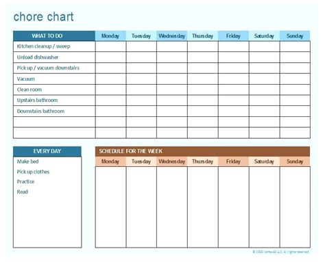 house chore schedule template chore chart templates house chores schedule template
