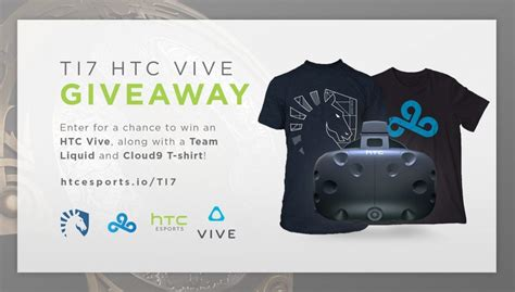 Free Htc Vive Giveaway - win a htc vive as part of 2017 dota 2 chionships vrfocus