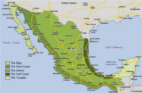 map of western mexico costco located in mexico s interior on the road in mexico