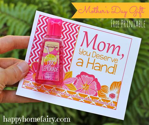 Sweet Gifts To Make For Mothers Day by Easy S Day Gift Idea Free Printable Happy Home