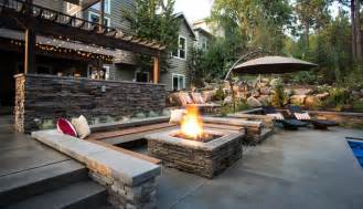 Backyard Landscaping Fire Pit Stone Fire Pit Designs Patio Contemporary With Bar Bbq
