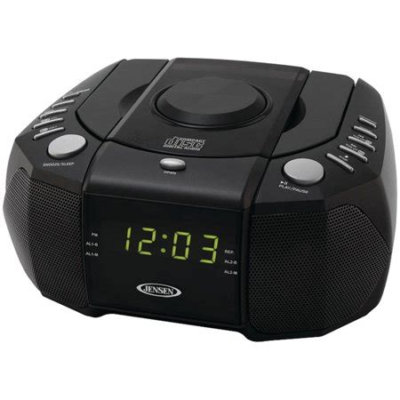 jcr 310 dual alarm clock am fm stereo radio with top loading cd player walmart