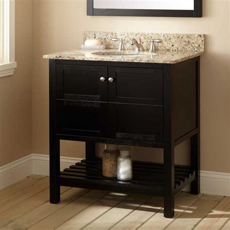 30quot everett vanity for undermount sink black bathroom