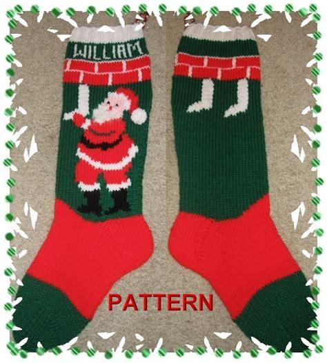pattern xmas stocking santa hanging stockings stocking knitting pattern