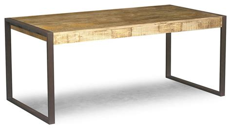 Reclaimed Wood Dining Table With Metal Legs Reclaimed Mango Wood Dining Table With Metal Legs Eclectic Dining Tables San Francisco