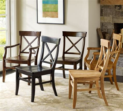 pottery barn chairs dining aaron wood seat chair pottery barn