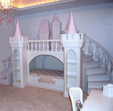 girls bunk beds with stairs castle loft bed with slide feel the home