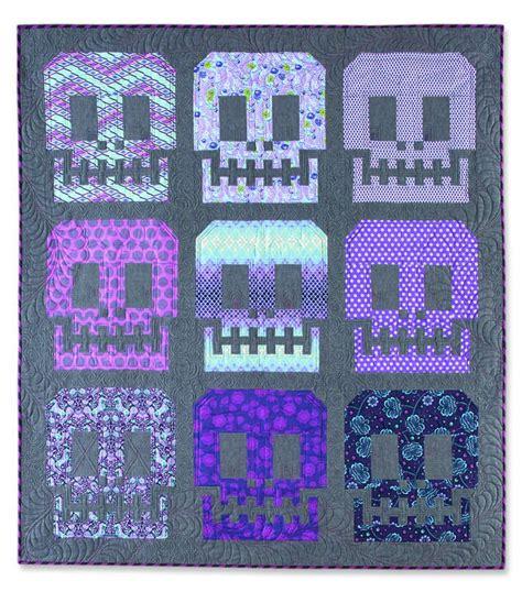 Skull Quilt Pattern by 78 Beste Afbeeldingen Dia De Los Muertos Quilts Op