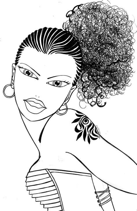 natural hair coloring pages afro hair coloring pages