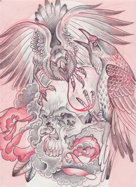 phoenix tattoo neo traditional birds skull neo traditional half sleeve tattoo ideas