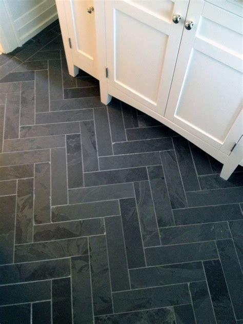 slate for bathroom floor slate herringbone for bathroom floors bathroom remodel