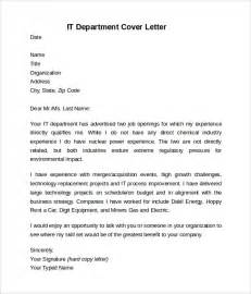 Information Technology Templates by Information Technology Cover Letter Template 8