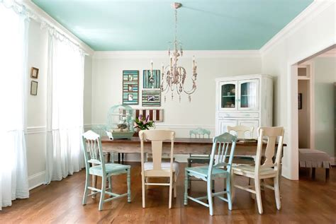Light Blue Dining Room by How To Paint Colors For Your Ceiling Freshome