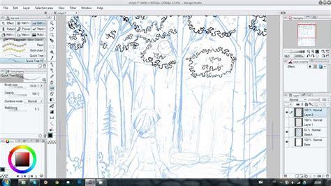 pattern brush manga studio trick 2 usefull for tree and bushes manga studio 5 with
