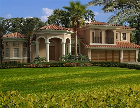 home pans luxury mediterranean house plan 32198aa architectural