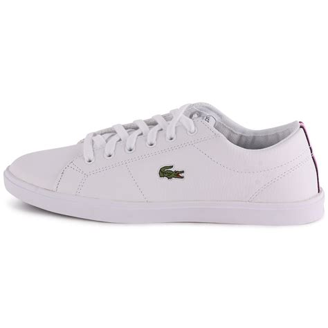 lacoste marcel cup csd womens leather white white trainers