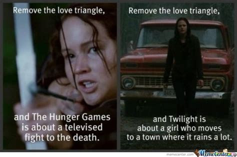 The Hunger Games Memes - hunger games vs twilight by beelzebub meme center