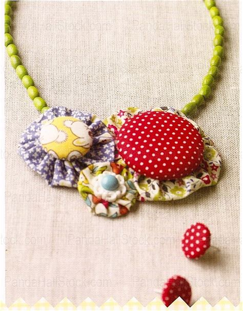 how to make fabric jewelry how to make fabric necklaces floral fabric necklace nbeads