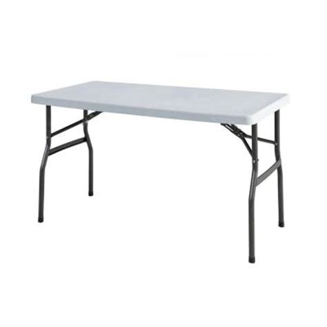 hdx 4 ft utility banquet table tbl 048 the home depot