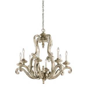 Distressed Chandelier Kichler 43265daw Hayman Bay Distressed Antique White