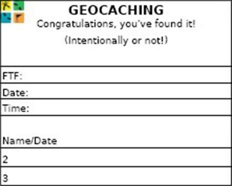 printable log book for geocaching geocaching log sheets techblazer