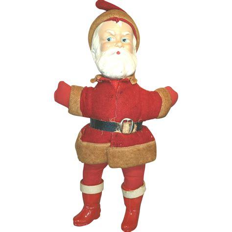 composition santa doll santa composition rattle antique doll