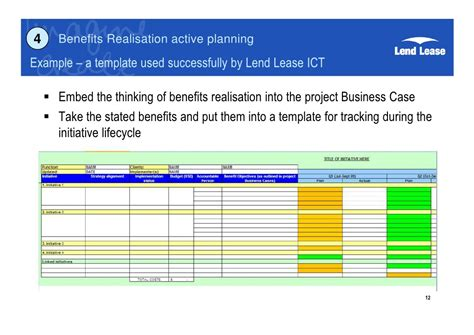 benefits realization plan template project benefits realisation g byatt