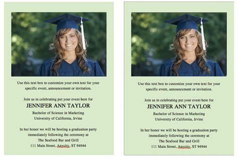 template  graduation invites