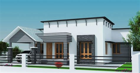 small plot 3 bedroom single floor house in kerala with