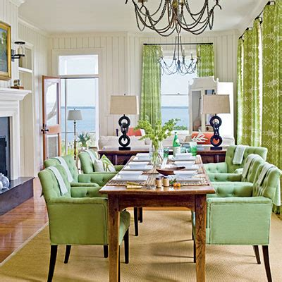 Coastal Living Dining Room by Coastal Dining Room With Green Accents Editors 50