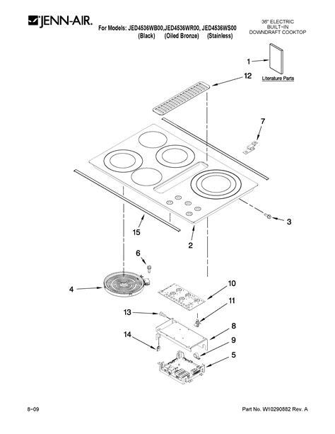 Jenn Air Electric Cooktop Replacement Parts - jenn air 36 quot electric downdraft cooktop blower unit parts