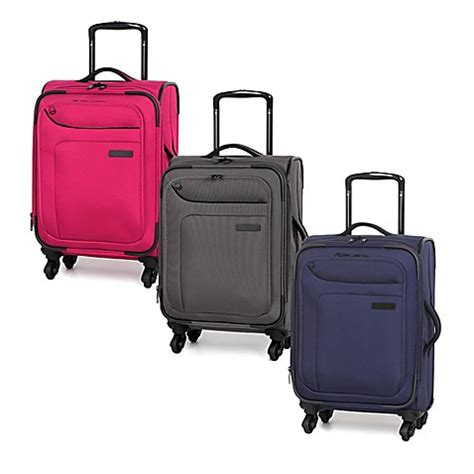 luggage bed bath and beyond it luggage megalite 20 inch 4 wheel expandable carry on