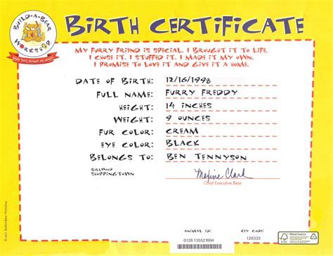 freddy s birth certificate by metalmindsam on deviantart