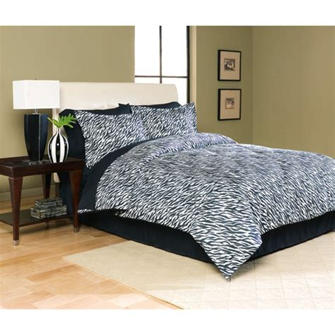 walmart bed in bag microfiber bed in a bag zebra print walmart com