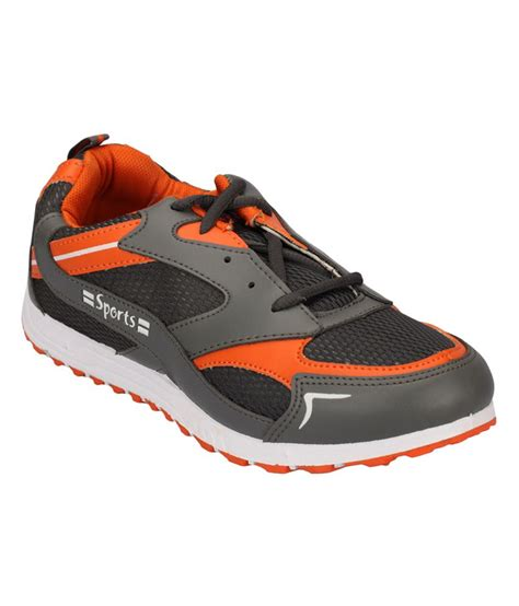 lakhani sports gray rubber sport shoes