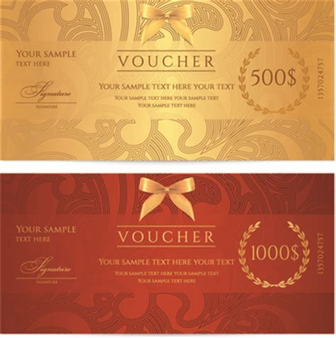 voucher template free voucher design free vector 106 free vector for