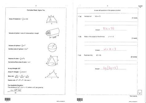 Aqa Maths Intermediate Past Papers by Unofficial Scheme Aqa Gcse Maths Linear B Non