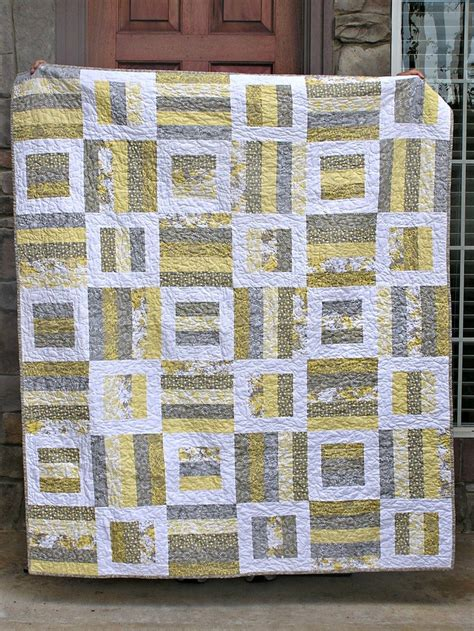 grey pattern quilt gray yellow quilt thing i like pinterest