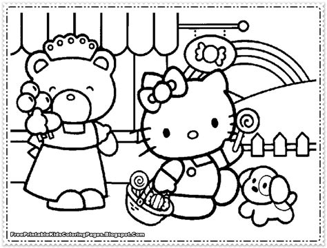 Ausmalbilder F 252 R Kinder Malvorlagen Und Malbuch Kitty Printable Coloring Pages For Hello
