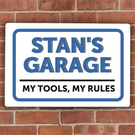 personalised garage metal sign by the letteroom