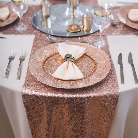 blush sequin table runner gold sequin table runner beyond expectations