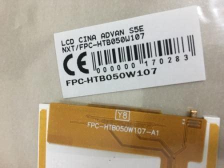Lcd Advan S5e lcd advan s5e nxt fpc htb050w107 spare part hp aksesoris hp alat servis hp sparepart
