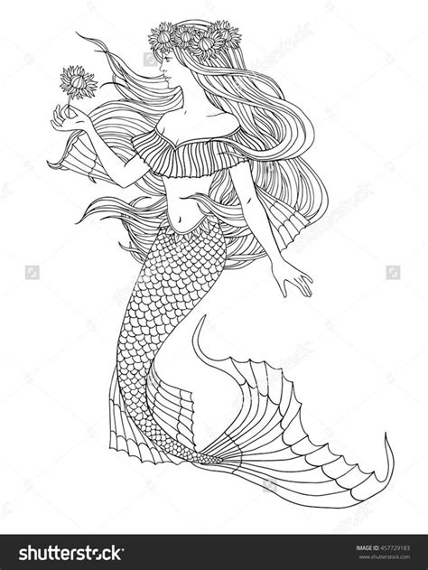 mermaid coloring pages for adults 286 best mermaid coloring pages for adults images on