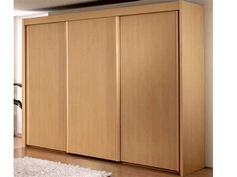 new york 3 door sliding door wardrobe in beech warehouse