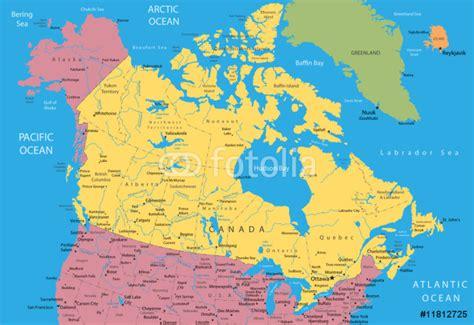 map usa canada alaska vinyl wall mural vector map of canada and alaska